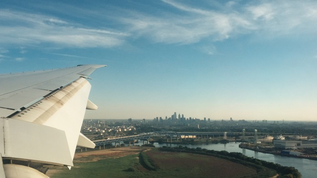 Landing safely in Philadelphia.
