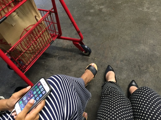 Realizing we were both somewhat-matching as we were waiting outside Trader Joes for the Lyft car.