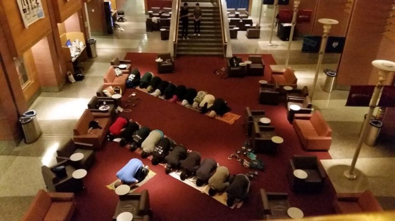 My MSA friends praying in Hustman Hall. I wasn't there because I was sick :(